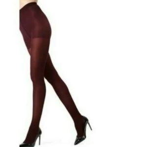 Spanx High Waist Shaping Tights Wine Opaque Size D